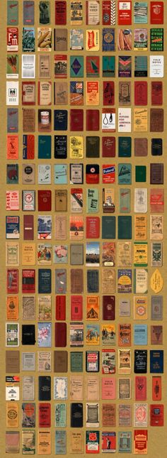 aaron draplin's collection of memo books, a design niche recently resurrected by the Field Notes brand.