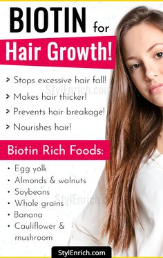 Do youwant thick hair? Do you want to tackle hair loss? Learn about using Biotin for hair problems. Here is the complete guide on biotin for hair growth. Biotin Hair Growth, Hair Growth Shampoo, Vitamins For Hair Growth, Hair Vitamins, Hair Growth Tips, Biotin For Hair Loss, Excessive Hair Fall, Make Hair Thicker, Hair Growth Treatment