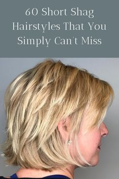 Mature ladies look fabulous sporting a choppy bob cut. The illusion of length is preserved in bobs with a straight cut length at the nape of the neck, while they can still have a contemporary choppy air to it! Short Shag Hairstyles, Hairstyles Haircuts, Straight Hairstyles, Hairdos, Short Hair Cuts, Short Hair Styles, Bobs For Thin Hair, Short Blonde, Straight Cut