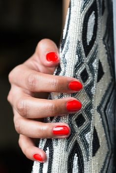 Make a statement and try one of these trendy nail colors this season! They're edgy, unexpected, and overall beautiful. Pictured: Classic Red