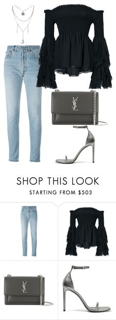 """""""Untitled #2108"""" by kellawear on Polyvore featuring RE/DONE, Caroline Constas and Yves Saint Laurent"""