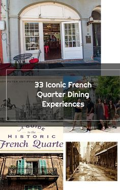 35 Iconic French Quarter Dining Experiences - Eater New Orleans French Quarter, New Orleans, Dining, Outdoor Decor, Food, Restaurant