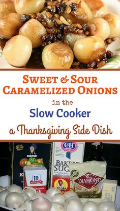 Sweet and Sour Caramelized onions in the crockpot slow cooker. Great ...