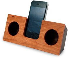 koostik wooden iPhone natural amplifier...saw this a few years ago. They have a few wood choices to choose from. Love them.