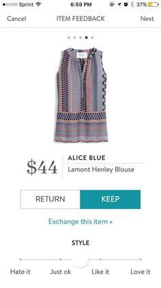 Stitch Fix Alice Blue. Need a cardi over