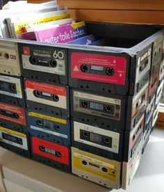 Cassette tape storage crate Cassette tape storage crate Related posts: 22 Ideas dog crate diy furniture end tables Dovetail Record Crate – audio SIMBOLO Sneaker-Wand – – 90 Creative & Ideas for Crate Coffee Table
