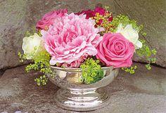 Versilberte Schale für duftende Blumenarrangements - The British Shop - Englische Bekleidung im Country Style und 'very British'-Spezialitäten!