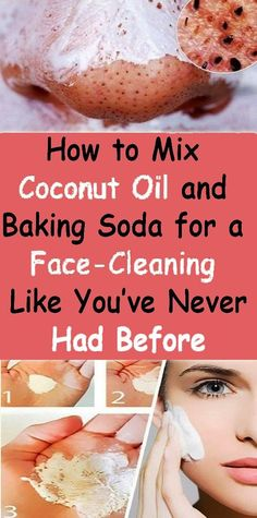 Coconut Oil Uses - How to mix coconut oil and baking soda for a face-cleaning like youve never had before - The Beauty Goddess 9 Reasons to Use Coconut Oil Daily Coconut Oil Will Set You Free — and Improve Your Health!Coconut Oil Fuels Your Metabolism! Baking Soda Face Wash, Baking Soda Uses, Baking Soda Scrub, Baking Soda For Skin, Baking Soda Hair, Baking Soda Cleaning, Diy Beauty Hacks, Beauty Hacks For Teens, Beauty Ideas