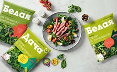 BELAYA DACHA Salads rebrand on Packaging of the World - Creative Package Design Gallery