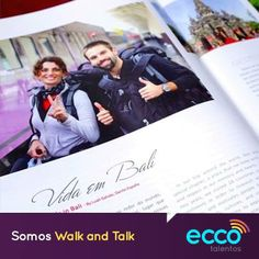 """Os Eccos Luah Galvão e Danilo España do Walk and Talk assinam uma super reportagem de capa para Revista Rota Leste que fala sobre """"Bali - A ilha dos deuses.""""   http://walkandtalk.com.br/oquetemotiva/walk-and-talk-assina-primeira-materia-de-capa-na-revista-rota-leste/  #somoseccotalentos"""