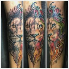 Tatuagem feita por @artnewtattoo! Que nota você dá para essa tattoo? #leao #lion #colorida #colorful #animal #wild #selvagem #tattoo #tattoo2me #tatuagem #ink #inked #arte #art #drawing #draw #tatouage #Tatowierung #tatuaje #artenapele #tinta #tatto2me #t2m #euquero #dibujo #dessin #tattoobrasil #brasil