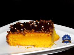 Bolo de Cenoura com cobertura de Ganache de Chocolate by fôrma C