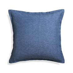 "Linden Indigo Blue 23"" Pillow, Crate and Barrel, $39.95"