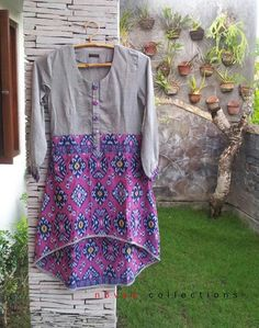 purple batik blouse