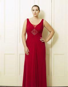 2cd4bb5899b Dion s Red Plus Size Long Dress by Viviana Plus Size Red Dress
