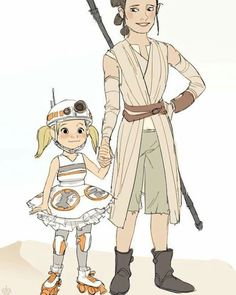 Rey and bb8 costume ideas