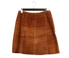 Vintage 70s 80s Brown Suede Mini Skirt by FannyAdamsVC on Etsy