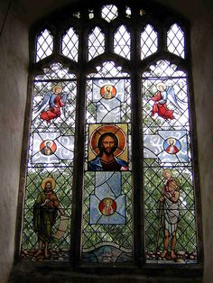 All Saints Church, Broughton, Cambs, UK. Stained glass window by Benjamin Finn. Una vidriera de Benjamin Finn en la iglesia de Broughton, Cambridgeshire, UK.
