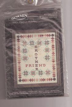Charmin Brother/Friend Counted Cross Stitch Kit Janlynn 30-98  #Janlynn #Sampler