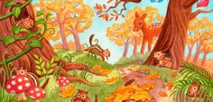 the directory of children's illustration Wild Animals Pictures, Animal Pictures, Talk 4 Writing, Autumn Activities, Chipmunks, Character Drawing, Drawings, Illustration, Painting