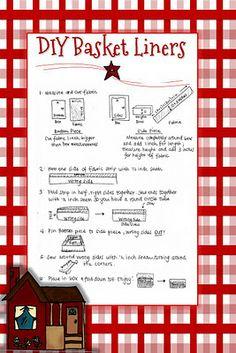 Digital Scrapbooking Made Easy: Easy DIY Basket Liner Digital Scrapbooking Made Easy: Easy DIY Baske Sewing Hacks, Sewing Tutorials, Sewing Crafts, Sewing Patterns, Bag Tutorials, Purse Patterns, Sewing Tips, Sewing Ideas, Frugal