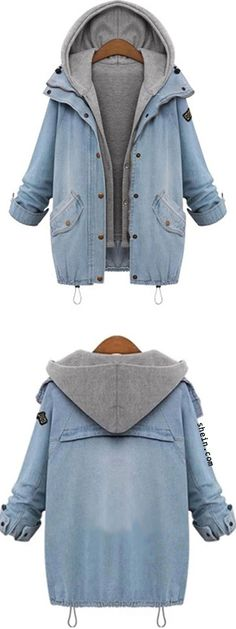 Two separate pieces, grey vest and then jean jacket. How cute it is!