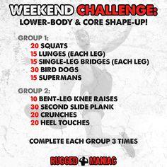 Week 2, Squats Not Shots! Lower Body Rugged Maniac