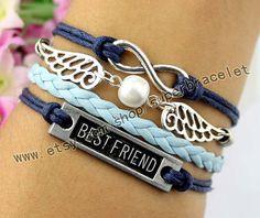 Best friend bracelet golden snitch bracelet pearl by superbracelet, $4.99