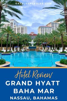 In this Grand Hyatt Baha Mar Bahamas Hotel Review, we show you why this resort is a great option for your pre-cruise hotel stay this summer. Bahamas Hotels, Bahamas Vacation, Bahamas Cruise, Cruise Vacation, Vacation Destinations, Top Cruise Lines, Beachy Room, Swimming Pigs, Adventure Of The Seas