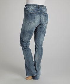 Love this Light Wash Destructed Straight-Leg Jeans - Plus by Vigoss on #zulily! #zulilyfinds