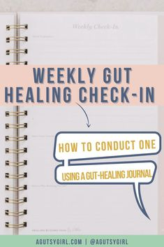 Weekly Gut Healing Check-In How to conduct one using a gut healing journal agutsygirl.com #journal #journaling #newyear #guthealth