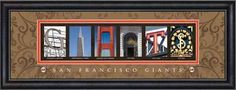 Giants Framed Letter Art Print!!