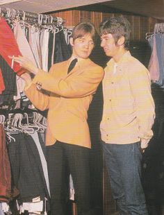 Steve Marriott and Ronnie Lane shopping in Carnaby Street during last days of Mod in 1966