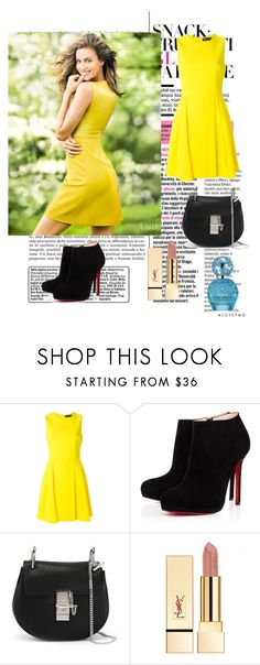 """Bez naslova #9"" by zerina-okanovic ❤ liked on Polyvore featuring Versace, Christian Louboutin, Chloé and Marc Jacobs"
