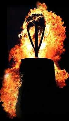 'Burning the Clavie' takes place on the night of January 11 . Just down the road from Carden Holiday Cottages