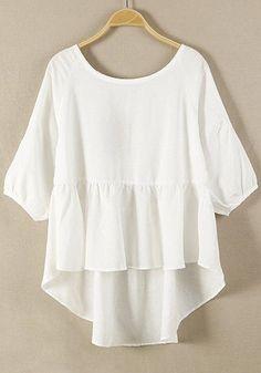 big tshirt, cotton top, cloth, plain style, cichic, loos cotton, closet, white blouses, white plain
