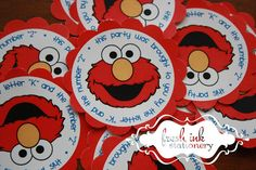 Elmo Personalized Stickers by FreshInkStationery on Etsy, $3.00