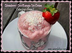 Strawberry Coco-Banana Ice Cream (dairy-free)