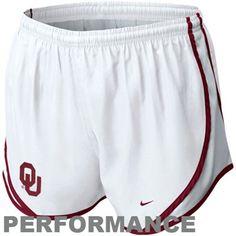 Nike Oklahoma Sooners Womens Tempo Performance Shorts - White