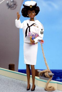 Navy Barbie (I love her but those shoes CANNOT be regulation)