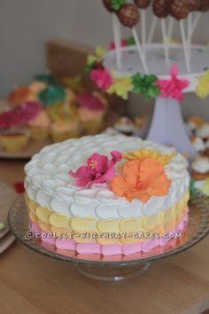 Hibiscus Cake for Luau