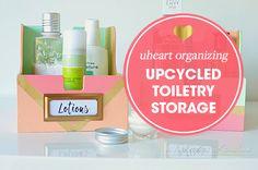 UHeart Organizing: Upcycled Toiletry Storage
