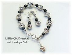 Celtic Bracelet and Matching Earrings Children's by redhatlady