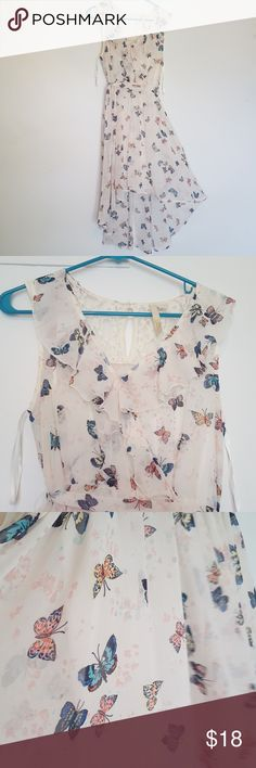 Beautiful Butterfly Dress Disney's Cinderella hi-lo butterfly dress. Excellent condition, only worn once. No holes/stains/rips/tears. Beautiful for any spring occasion <3 Disney Dresses High Low