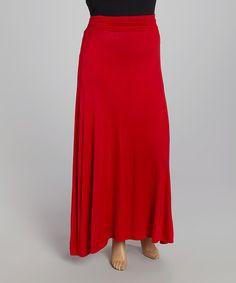 Look at this #zulilyfind! Red Maxi Skirt - Plus by CANARI #zulilyfinds