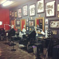 Blackeyes tattoo is a Tattoo Shop, Tattoo Parlor, Tattoo Studio with expert Tattoo Artists providing Tattoo services at Edmonton. Great Lakes Tattoo, Tattoo Shop Decor, Apocalypse Tattoo, Lake Tattoo, Tattoo Studio Interior, Vegas Tattoo, Tattoo Salon, Best Tattoo Shops, Dream Studio