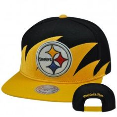 415d799f899 Mitchell   Ness Sharktooth NE83Z Snapback Flat Bill Hat Cap Pittsburgh  Steelers.£6.63