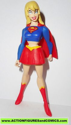 mattel toys action figures for sale to buy: JUSTICE LEAGUE UNLIMITED dc universe animated JLU SUPERGIRL (kara zor-el red/blue suit) Condition: excellent. nice paint, nice joints. nothing broken, damag