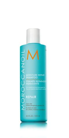 Moroccanoil: Moisture Repair Shampoo. Why do we love it? It's color safe AND strengthens the hair!