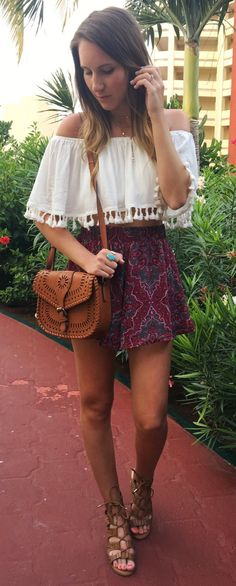 #spring #outfits  Tonight's #ootn For Tacos And Margs. These Fun Shorts Are Perfect For Vacay And Hot Summer Nights